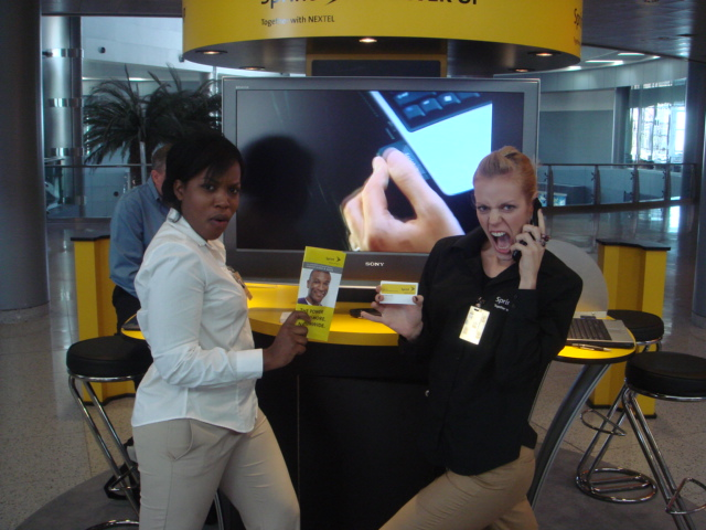 airport marketing campaign, sprint